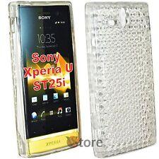 Cover Custodia Per Sony Xperia U ST25i Silicone Gel TPU Trasparente + Pellicola