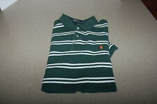 RALPH LAUREN STRIPED POLO SHIRT green large cotton short sleeve camisas