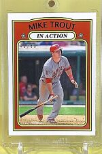 MIKE TROUT 2019 Topps Transcendent VIP Party 1972 In Action #MT-72IA Ser.# 40/83