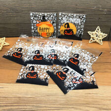 50pcs Halloween Candy Bags Pumpkin Ghost Gift Bag For Cookies Snack Food Packing