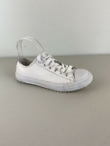 Shoes for Crews Old School Low Rider Shoes 7.5 White Leather Slip Resistant