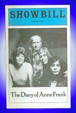 Playbill + The Diary of Anne Frank + Eli Wallach, Anne Jackson, Roberta Wallach