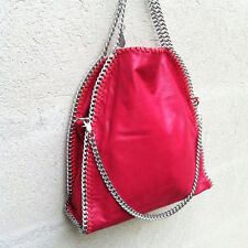 MAXI BORSA GRANDE CATENE Simile falabella stella mccartney BAG CHAIN rossa RED