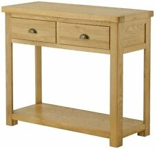 Wood Veneer Modern Console Tables without Assembly Required