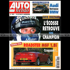 AUTO HEBDO N°1005 MGF MERCEDES C 230 KOMPRESSOR BMW 323i DAVID COULTHARD 1995