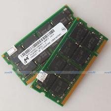 Micron 2GB 2x1GB PC3200 DDR400 400Mhz 200PIN Laptop SO-DIMM Memoria RAM completa di prova