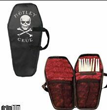 MOTLEY CRUE Coffin Case Drumstick & Mic Bag Accessories Rock Star Guitar Hero