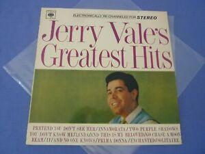 "Jerry Vale's Greatest Hits - KLPS 892 - 12"" Vinyl LP Record"