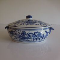 Salsera Sopera Porcelana de China Arte Nuevo Deco Diseño Siglo Xx PN Francia