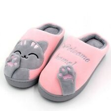 Home Slippers Indoor Shoes Women Anti Slip Sandals Warm Men Gift Cat Plush Soft