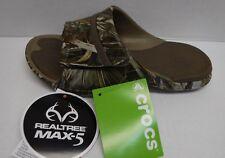 Crocs Size 7 Realtree Camo Slides Sandals New Womens Shoes