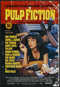 "Pulp Fiction Movie Poster - Q Tarantino, Uma Thurman - 91 x 61 cm 36"" x 24"""