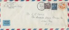 1935 Airmail Cover from Miami, FL to Lima, Peru (Pan American Airways)