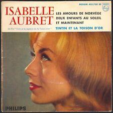 ISABELLE AUBRET TINTIN ET LA TOISON D'OR Très RARE POCHETTE MATE 45T EP 432.730