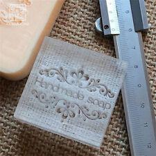 Handmade Patterns Soap Seal Stamp Mold Natural Acrylic Glass Custimized DIY