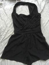 ASOS black Halter Play Suit UK 8 Party Occasion Burlesque? Vgc