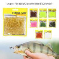 50PCS 5cm Soft Plastic Fishing Lures T-Tail Grub Worm Baits Fishing Tackle Accs