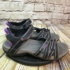 Teva Womens Tirra Black and Purple Adjustable Hiking Sandals Size 8