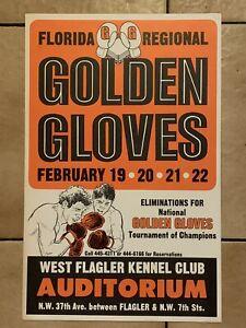 Stunningly Clean Original 1970s Florida Golden Gloves Rare Vintage Boxing Poster