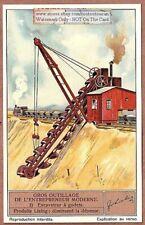 Excavator Excavateur Heavy Construction Equipment 1930s Trade Ad Card