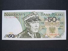 Polen, Bank  Polski   50 Zlotych  Banknote  1986  (W 915)