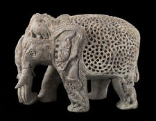 -statue Elefant IN Pierre-2kg750-Top Qualität- Indien-Stein Carving- 1499