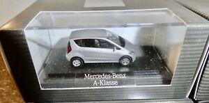 Wiking Mercedes-Benz a-Class Silver H0 1:87 Boxed HN2 Å