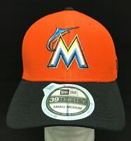 MIAMI MARLINS MLB NEW ERA 39THIRTY REVERSE DIAMOND FLEX FIT HAT CAP S/M