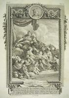 Rey de Francia Charles IV la Bonito Capetos direct B L PREVOST sc C N Cochin