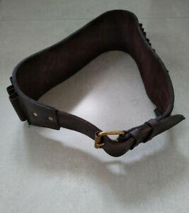 Conway of London brown leather open loop shotgun cartridge belt (.410G)
