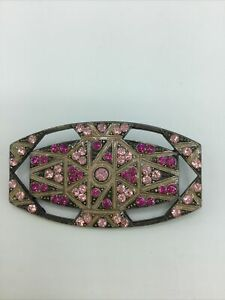 CATHERINE POPESCO Pink Crystals BROOCH VINTAGE