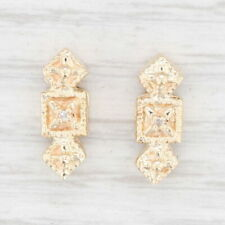 Vintage Set of 2 Spacer Slide Charms Diamonds 14k Yellow Gold