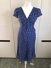 Laura Ashley Blue Tea Dress 8 Spotted Midi