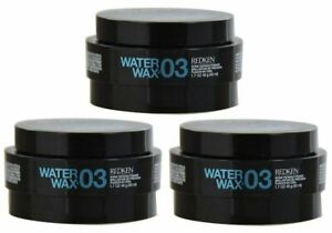 Redken Water Wax 03 Shine Defining Pomade, 1.7 oz (Pack of 3) NEW