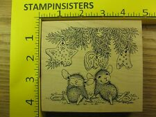 Rubber Stamp House Mouse Christmas Cookie Eater Stampa Rosa Stampinsisters #1843