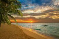 Beach-seascape-suntset CANVAS WALL ART PICTURE PRINT VARIOUS SIZES