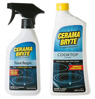 Cerama Bryte Glass-Ceramic Cooktop Cleaning Combo - Cooktop Cleaner 28 oz, with