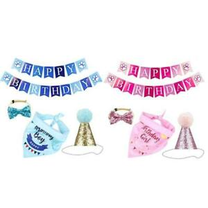 Dog Birthday Party Supplies Hat Happy Birthday Banner Bandana blingbling Bowtie