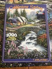Cobblestone Spring White Mountain Jigsaw Puzzle 1000 Pieces COMPLETE #319