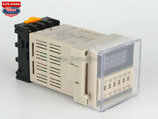 DH48S-S Digital AC/DC 24-240V Precision Programmable Time Delay Relay With Base