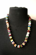 Sobral POP ART Popinho Mini Cube Multicolour Resin Bead Necklace Brazil
