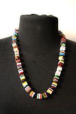 Sobral POP ART Popinho Mini Cube Multicolour Resin Bead Necklace Brazil