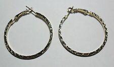 Bijou fantaisie : boucles d'oreille créoles dorées  - diam 4 cm