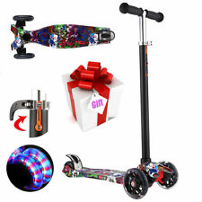 Kids Scooter Deluxe for Toddler Adjustable Kick Scooters Girls Boys 3-Led Wheels