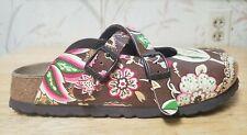 Birkenstock Birkis Women's Sandals Slides Floral 230 Closed Toe Clog Mules Sz 36