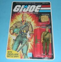 *RECARDED* 1984 GI Joe Duke v1 Figure Complete Sealed *CUSTOM File Card Back*