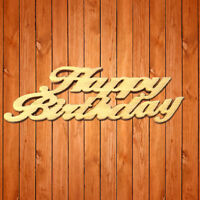 Wooden Embellishments Crafting Engrave Happy Birthday Slices Home Decor Wedding