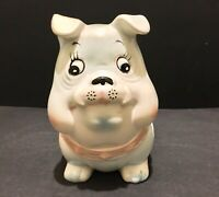 "Vintage Inarco Japan Bulldog Planter Pink & Blue Babys Room Nursery E-3847 6.25"""