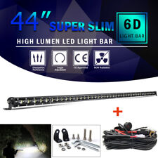 """44inch 1280W LED Slim Single Row Light Bar Spot Offroad Truck Ford SUV 42""""+wires"""