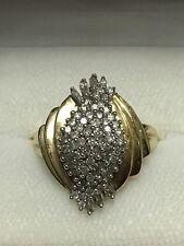 1ct Natural Mine 67-Diamond Dinner Cocktail Ring 10K Gold